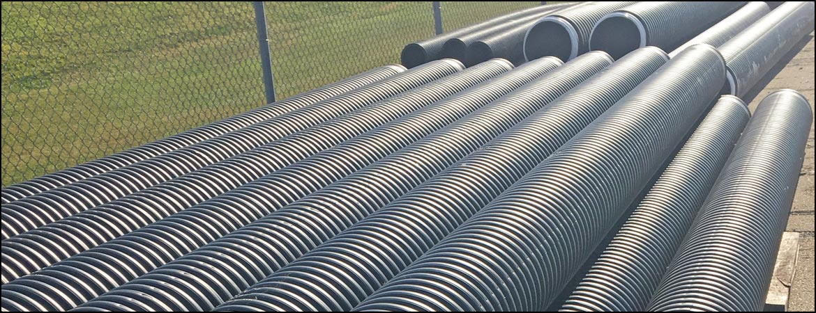 culvert pipes lined up outside